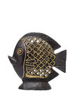 Fish made of clay with a mirror Royalty Free Stock Photo