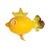 Fish, made from fruits and vegetables Stock Photo