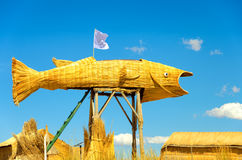 Fish Made from Reeds Royalty Free Stock Images