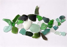 Fish made from sea glass royalty free stock photography
