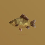 Fish made with triangles. Vector illustration Stock Photos
