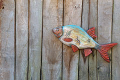 Fish made of wood Royalty Free Stock Photo