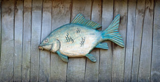 Fish made of wood Royalty Free Stock Photography