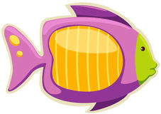 Fish magnet. Illustration of isolated fish magnet on white Royalty Free Stock Photos