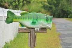 Fish Mailbox Royalty Free Stock Images