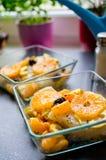 Fish with mandarins stock photos