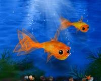 Fish, Marine Biology, Ecosystem, Goldfish royalty free stock image
