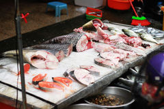 Fish Market. In Traditional market Stall Fish Stock Images