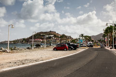 Fish market area in Marigot Fort Louis on hill Royalty Free Stock Images