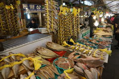 Fish market in Asia Stock Images