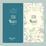 Fish market banner. Fish fresh market banner,stock vector illustration stock illustration