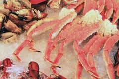 Fish market bergen Norwegian city Stock Images