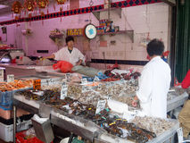 Fish market at Chinatown in New York City Stock Image