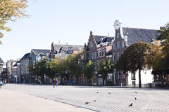 Fish market in city of Groningen, Holland Royalty Free Stock Photos