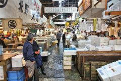 Fish market in Japan Stock Photos