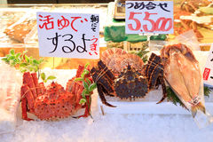 Fish market menu Royalty Free Stock Photography