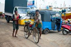 Fish market in Mirissa Stock Image