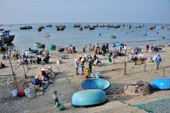 Fish market in Mui Ne Royalty Free Stock Image