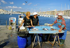 Fish market, old port Marseille Stock Photography