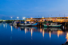 The fish market in Panama City at blue hour Royalty Free Stock Photo