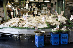 Fish market, Pike Place Market, Seattle Royalty Free Stock Images