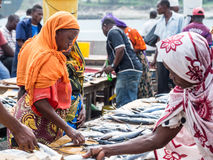 Fish market in Sar es Salaam, Tanzania Stock Photography