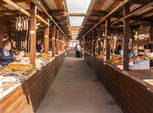 Fish market in siberia, russian federation Stock Photos