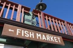 Fish Market Sign Royalty Free Stock Photo