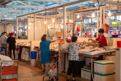 Fish Market in Singapore Stock Photos