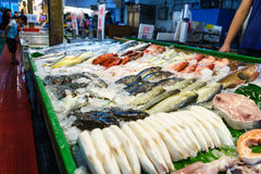 Fish Market at taiwan. The first fish being sold at the market Taiwan Stock Photo