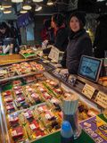 Fish market in Tokyo, Japan royalty free stock photo