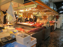 Fish market in Tokyo Stock Image