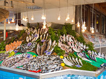 Fish market in Umraniye Stock Images