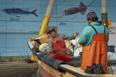 Fish Market in Valparaiso, Chile Stock Photos