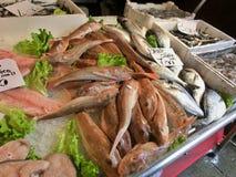 Fish market in Venice. Fish market near Rialto in Venice royalty free stock photo