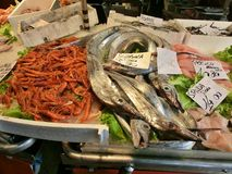 Fish market in Venice Stock Photos