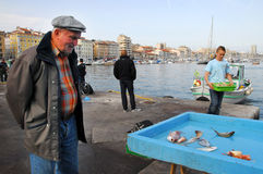 The fish market of Vieux-Port in Marseille France Royalty Free Stock Photography