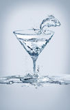 Fish and Martini Glass Stock Image