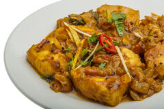 Fish masala. Traditional Indian food Royalty Free Stock Photos