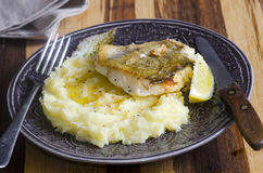 Fish with mash Royalty Free Stock Photos