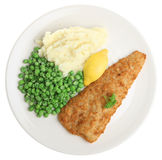 Fish, Mashed Potato & Peas Stock Photography