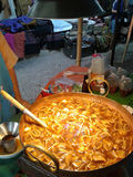 Fish maw in chicken broth Royalty Free Stock Photos