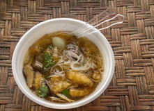Fish maw in chicken broth in the cup Royalty Free Stock Photo