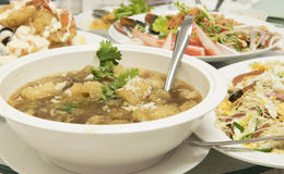 Fish maw in chicken broth  / food Stock Images