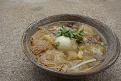 Fish maw in chicken broth Royalty Free Stock Photo