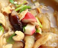 Fish maw. Chinese food, fish maw and crab meat and mushroom Royalty Free Stock Image