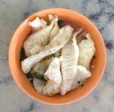 Fish maw in clear broth soup Stock Photo