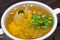 Fish maw soup Royalty Free Stock Photos