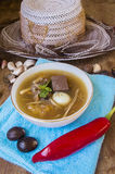 Fish maw soup, chinese food Royalty Free Stock Image