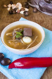 Fish maw soup, chinese food Stock Images